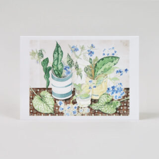 Set of 10 Angie Lewin Notecards - Festival of Britain Mug / Late Summer Flowers