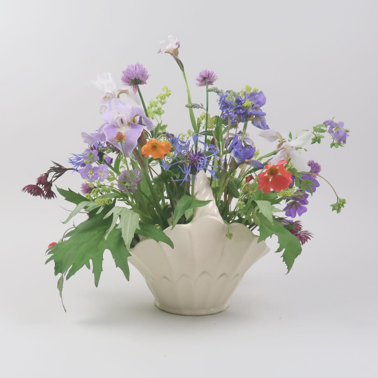 Basket Vase by Arthur Wood