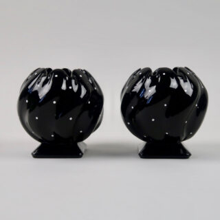 Pair of Bagley Polka Dot Glass Vases