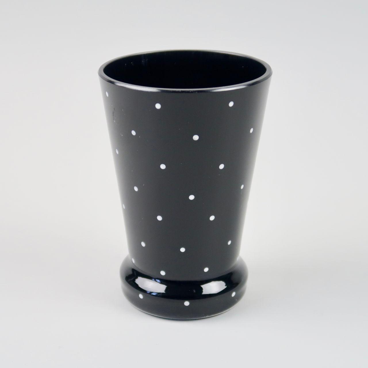Bagley Polka Dot Glass 1950s vase
