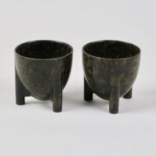 Set of 2 Mottled Bakelite Egg Cups