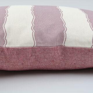 Rectangular Cushion with Balcony Stripe Fabric by Nicky Haslam Design
