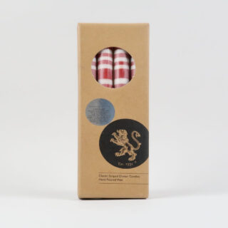 Striped Dinner Candles - Box of 4 - Guardsman's Red/Gull