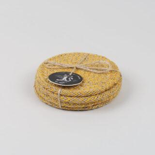 Set of 4 Jute Coasters - Indian Yellow