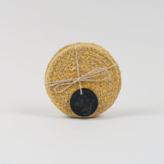 Set of 4 Jute Coasters - Indian Yellow