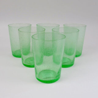 Boxed Set of 6 Recycled Glass Tumblers - Malachite Green