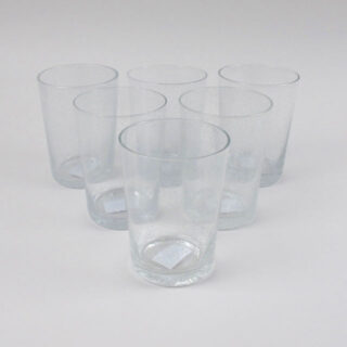 Boxed Set of 6 Recycled Glass Tumblers - Pearl White
