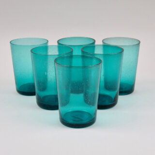 Boxed Set of 6 Recycled Glass Tumblers - Petrol BlueBoxed Set of 6 Recycled Glass Tumblers - Petrol Blue