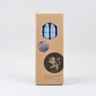 Striped Dinner Candles - Box of 4 - Beryl/Bokhara/Moonstone