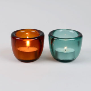 Handmade Glass Tealight Holder - Almond Shell