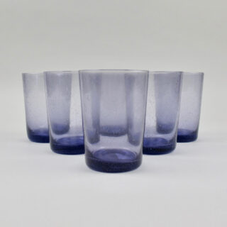 Boxed Set of 6 Recycled Glass Tumblers - Violet
