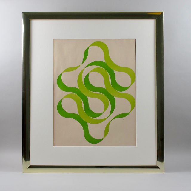 Framed Screen Print - Green/Light Green