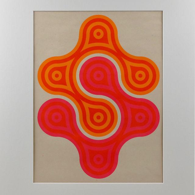 belgian print pink orange 02