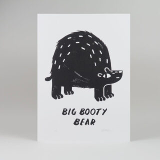 Big Booty Bear Print