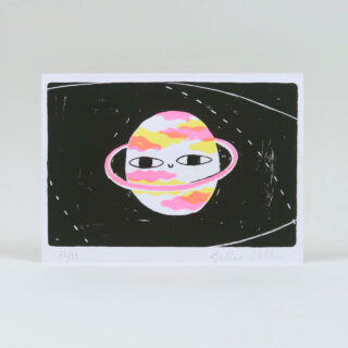 Happy Planet Risograph Print