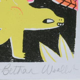 Stegosaurus Risograph Print