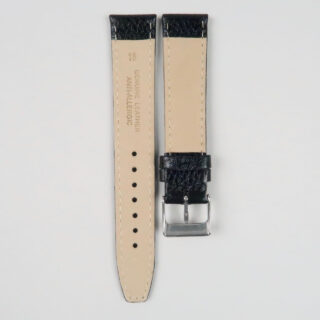 Calf leather strap with textured finish   14mm - 20mm