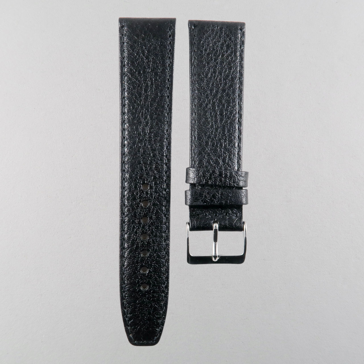 Calf leather strap with textured finish