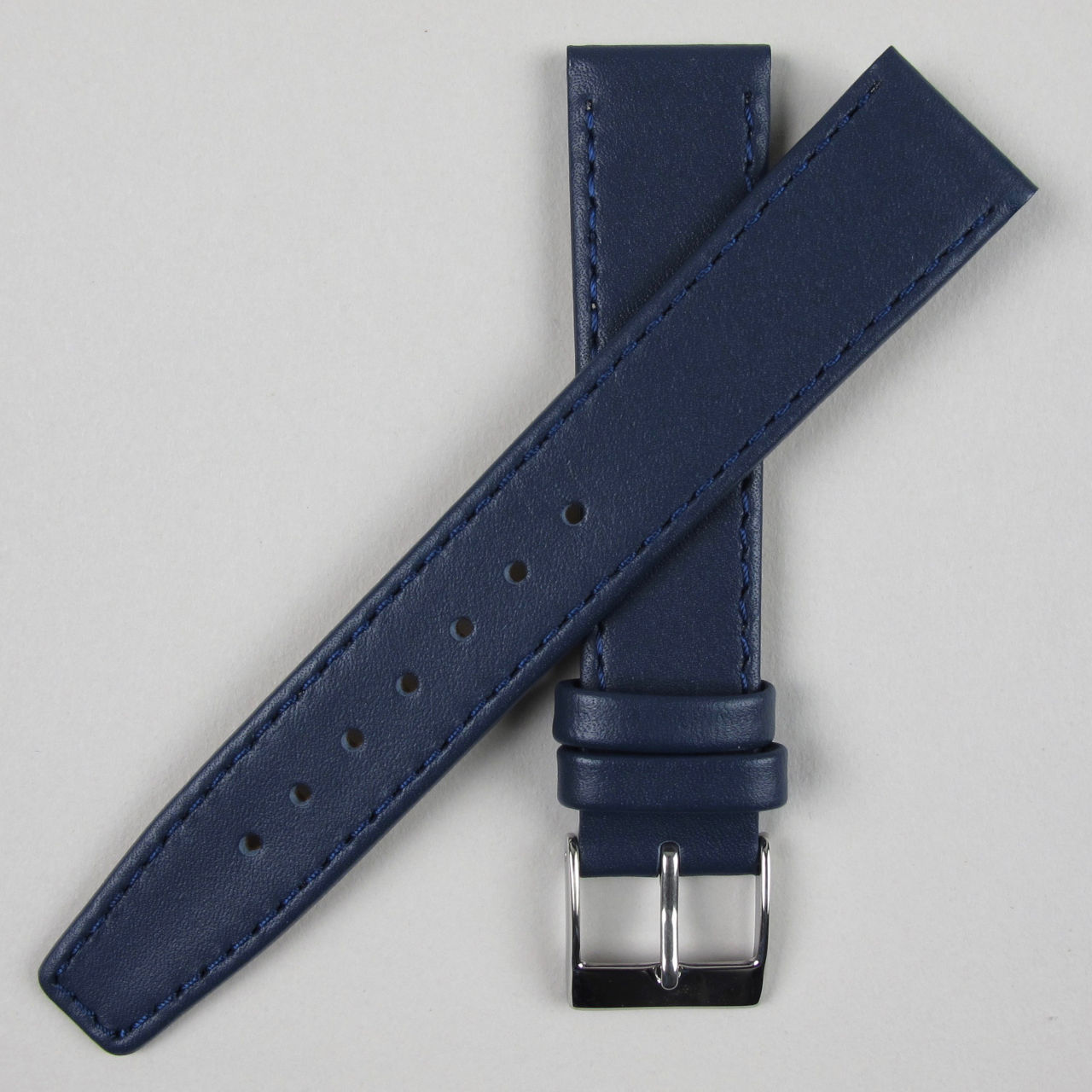 Dark Blue smooth leather watch strap | 8mm - 20mm