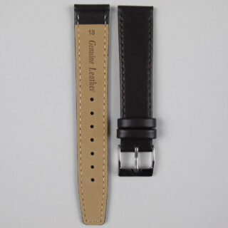 Dark brown smooth calf leather watch strap 8mm - 22mm