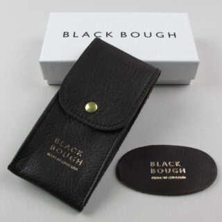 Black Bough Leather Single Watch Pouch Made In England Cobbswp V01