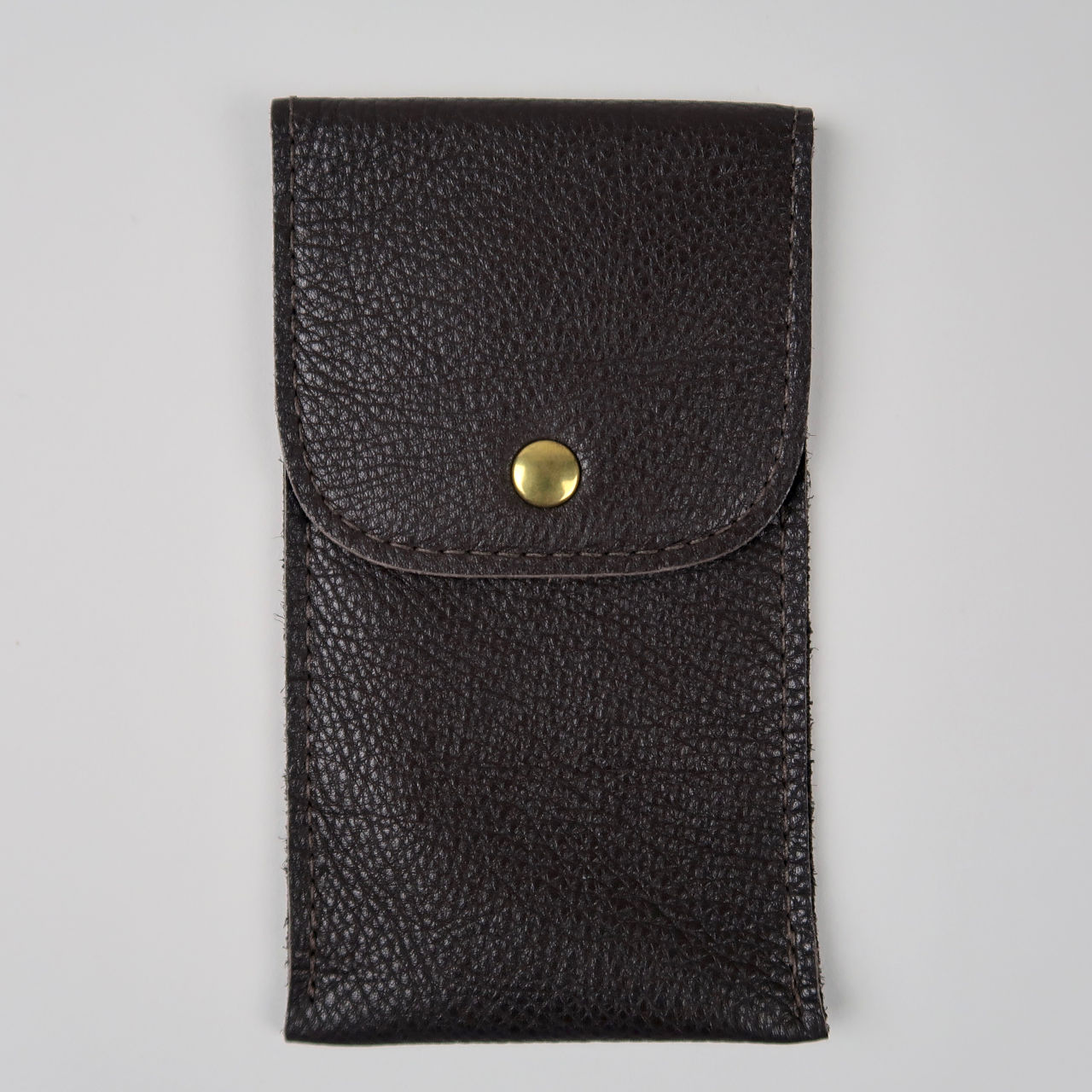 Brown leather wristwatch pouch