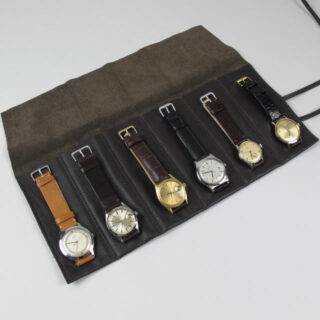 Brown leather watch wrap