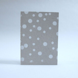Spotty notebook, handprinted and bound