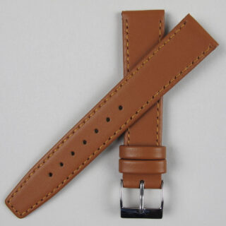 Tan smooth leather watch strap | 8mm - 22mm
