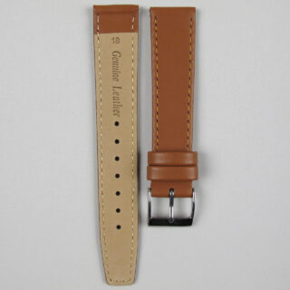 Tan smooth calf leather watch strap 8mm - 22mm