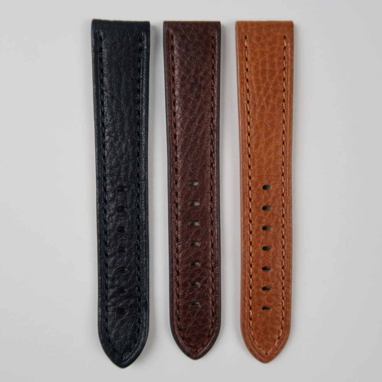 textured thick calf leather strap