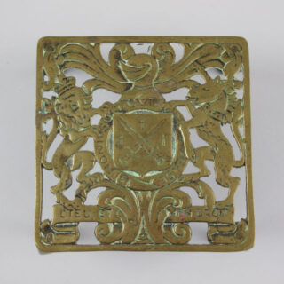 Brass Trivet with Coat of Arms