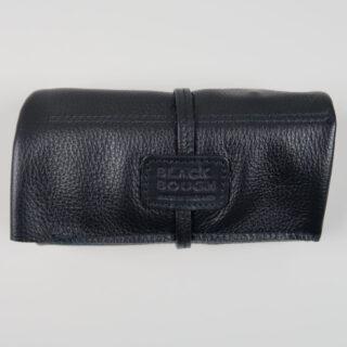 Black leather watch wrap