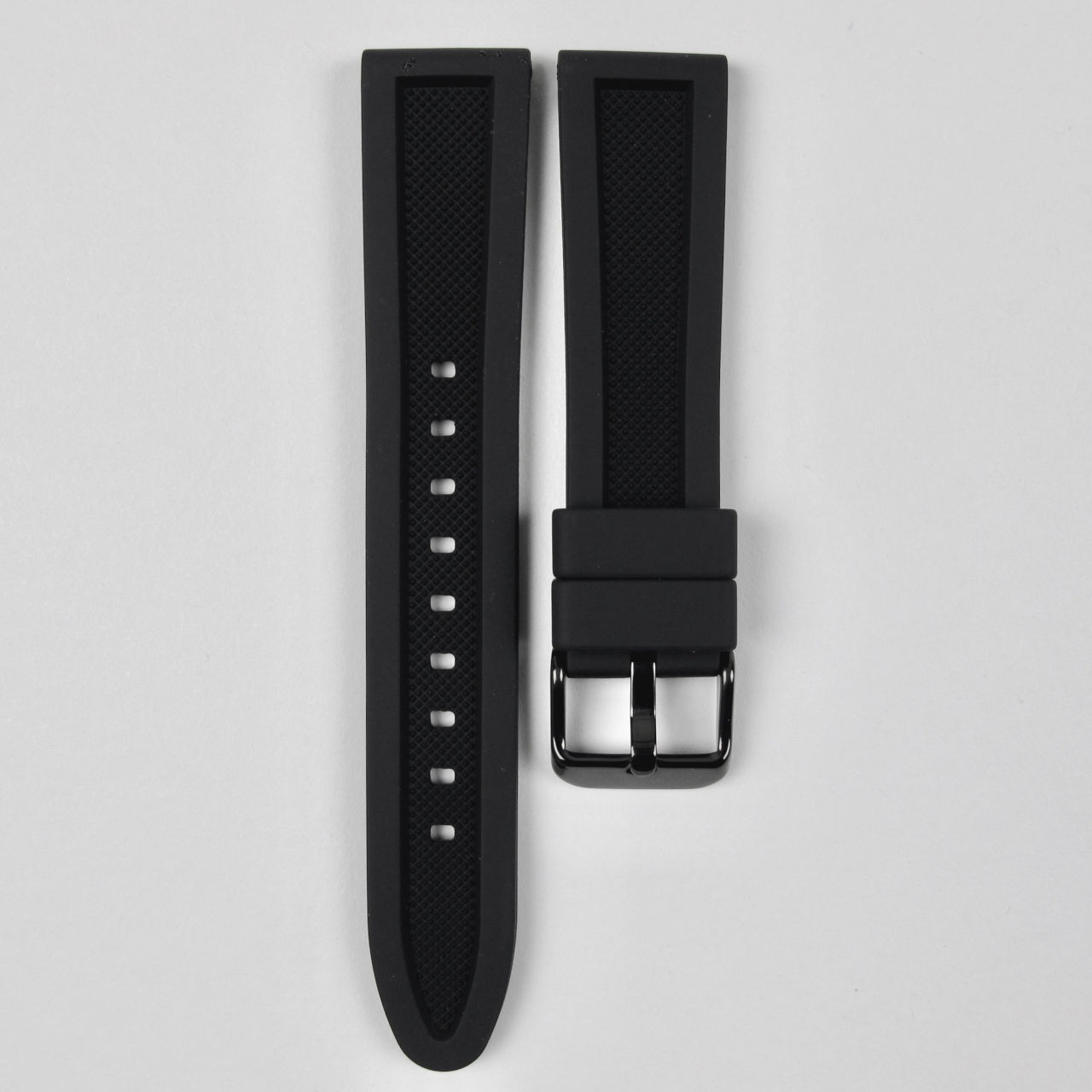 Silicone rubber reversible watch strap