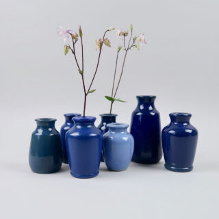 Blue Stoneware Bottles