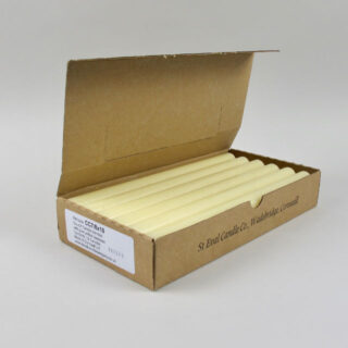 Box of 12 Beeswax Blend Dinner Candles