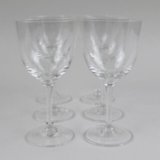 Box of 6 Etched Star Design Wine Glasses