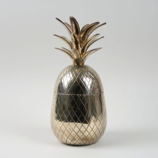 Vintage Brass Pineapple Form Ice Bucket
