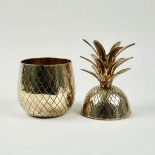 Vintage Brass Pineapple Form Ice Bucket