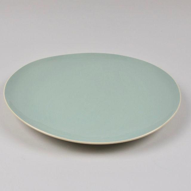 dinner plate by brickett davda handmade in east sussex black