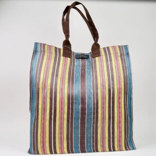 Eco Woven Market Shopper - Indian Yellow, Saxe, Rose Beige