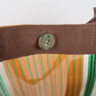 Eco Woven Market Shopper - Spanish Orange, Grass