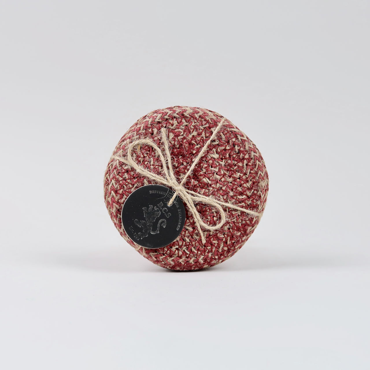 Set of 4 Woven Jute Coasters - Guardsman Red