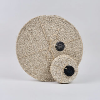Set of 4 Woven Jute Placemats - Pearl White