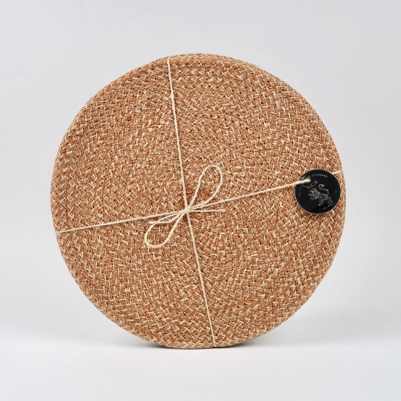 Set of 4 Woven Jute Placemats - Brick Dust