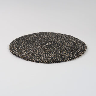 Set of 4 Woven Jute Placemats - Jet Black