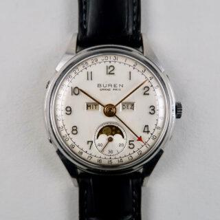 Buren 'Grand Prix' Cal. 382 vintage calendar wristwatch, circa 1955