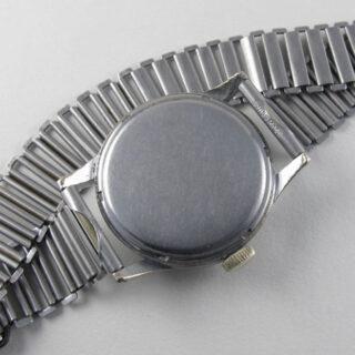 Buren 'Grand Prix' chrome and steel vintage wristwatch, circa 1945
