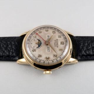 Buren Grand Prix gold plated vintage calendar wristwatch, circa 1953