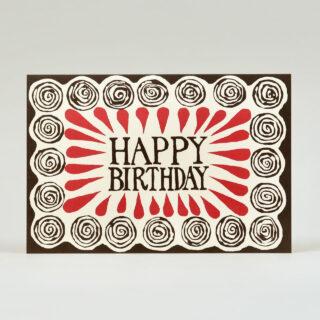 Spiral Happy birthday